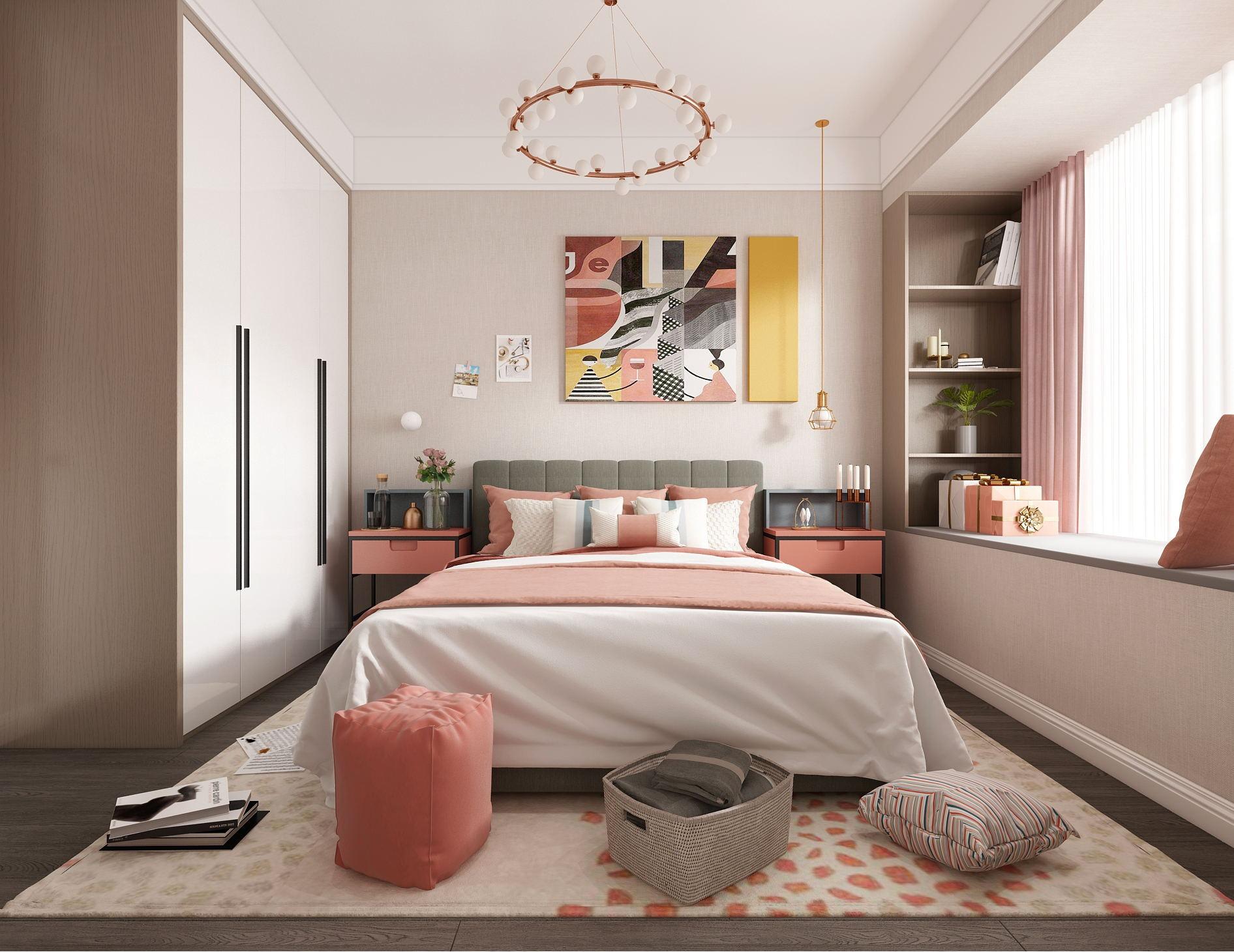 公寓装修设计/公寓软装设计/公寓施工图/整装设计效果图施工图