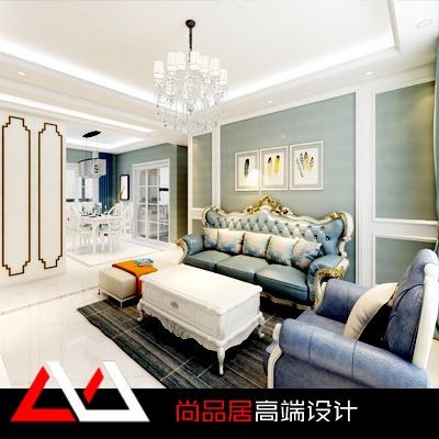 欧式风格新房家装设计室内装修设计效果图施工图平面方案效果图