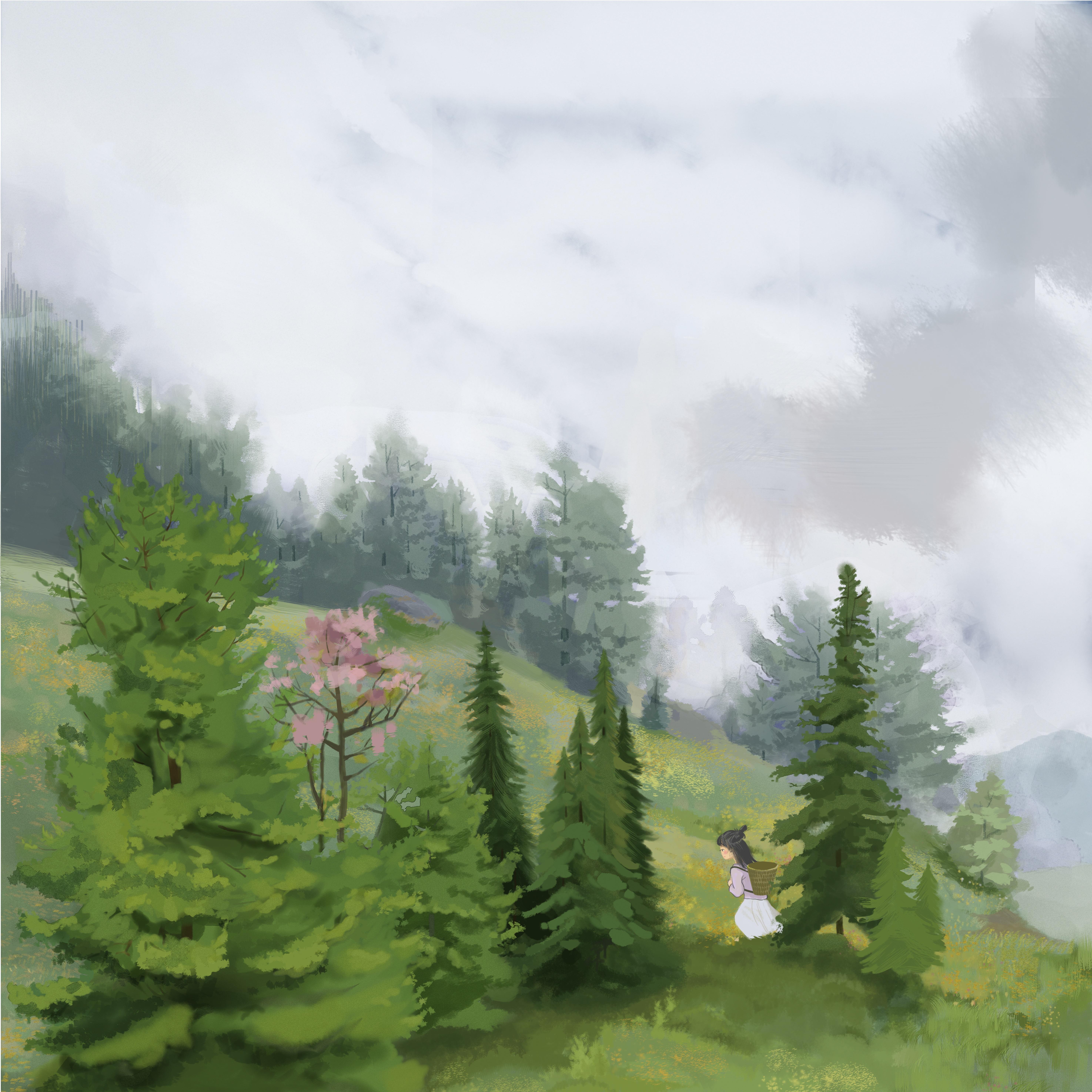水彩风插画,图书绘本,手绘,书籍插画