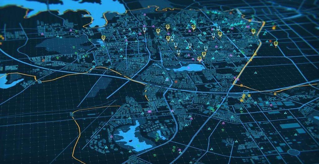 3D地图三维地图离线GIS在线GIS三维3D场景大数据可视化