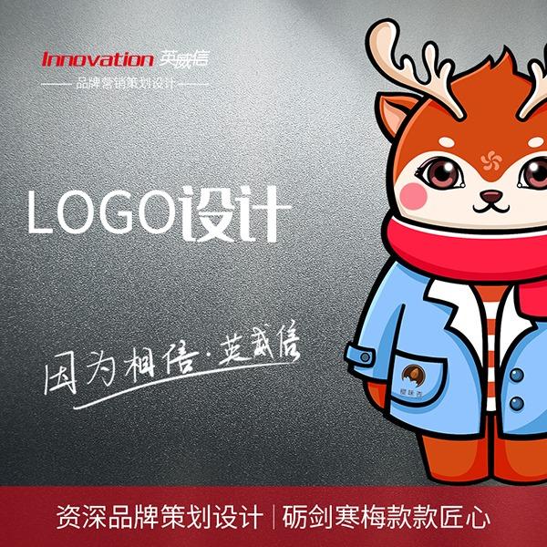 品牌升级英文logo设计公司LOGO卡通商标图文标志字体设计