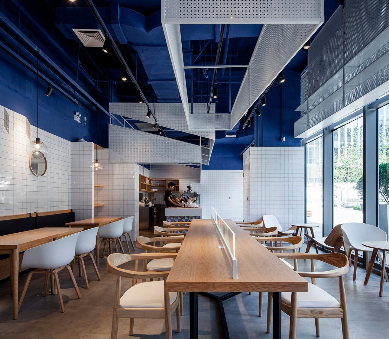 奶茶店网红店打卡点公装空间装修设计连锁餐饮店面形象效果设计