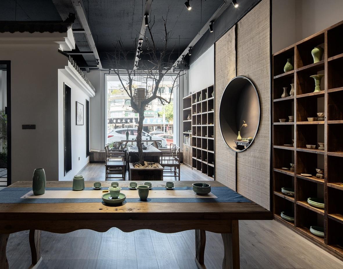 茶馆装潢设计全过程设计服务上海地区现场配合效果图设计施工图