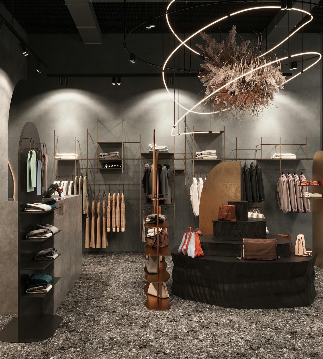 精品买手店二手店专卖店设计室内空间设计效果图施工图制作