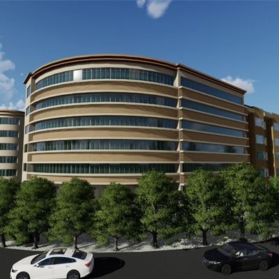 旧房改造 政府大楼改造设计 效果图 施工图 现状图