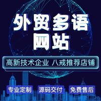 外贸网站/中英文版/多语言版/境外定制网站建设开发制作设计