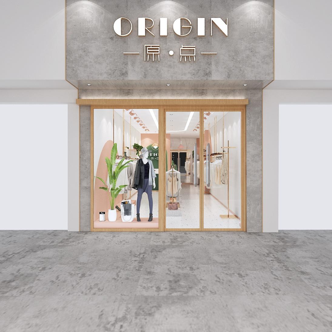 店面门头设计服装店装修设计专卖店装修设计男装女装服装店设计