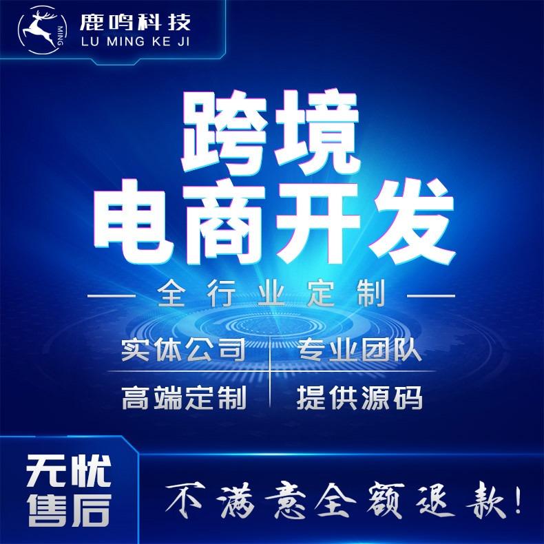 跨境商城手机购物网站微信小程序公众号PC版APP电商定制开发