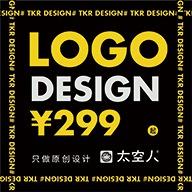 公司logo设计字体原创卡通VI画册包装商标设计太空人设计