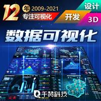 大数据可视化大屏设计数据化设计智能大屏软件界面3D建模UI
