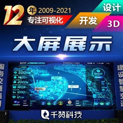 大数据可视化UI设计前端大屏展示智慧交通车联网物联网平台开发