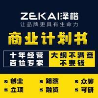 杭州 商业 计划书融资 策划 PPT招商项目路演可行性研究报告代写作