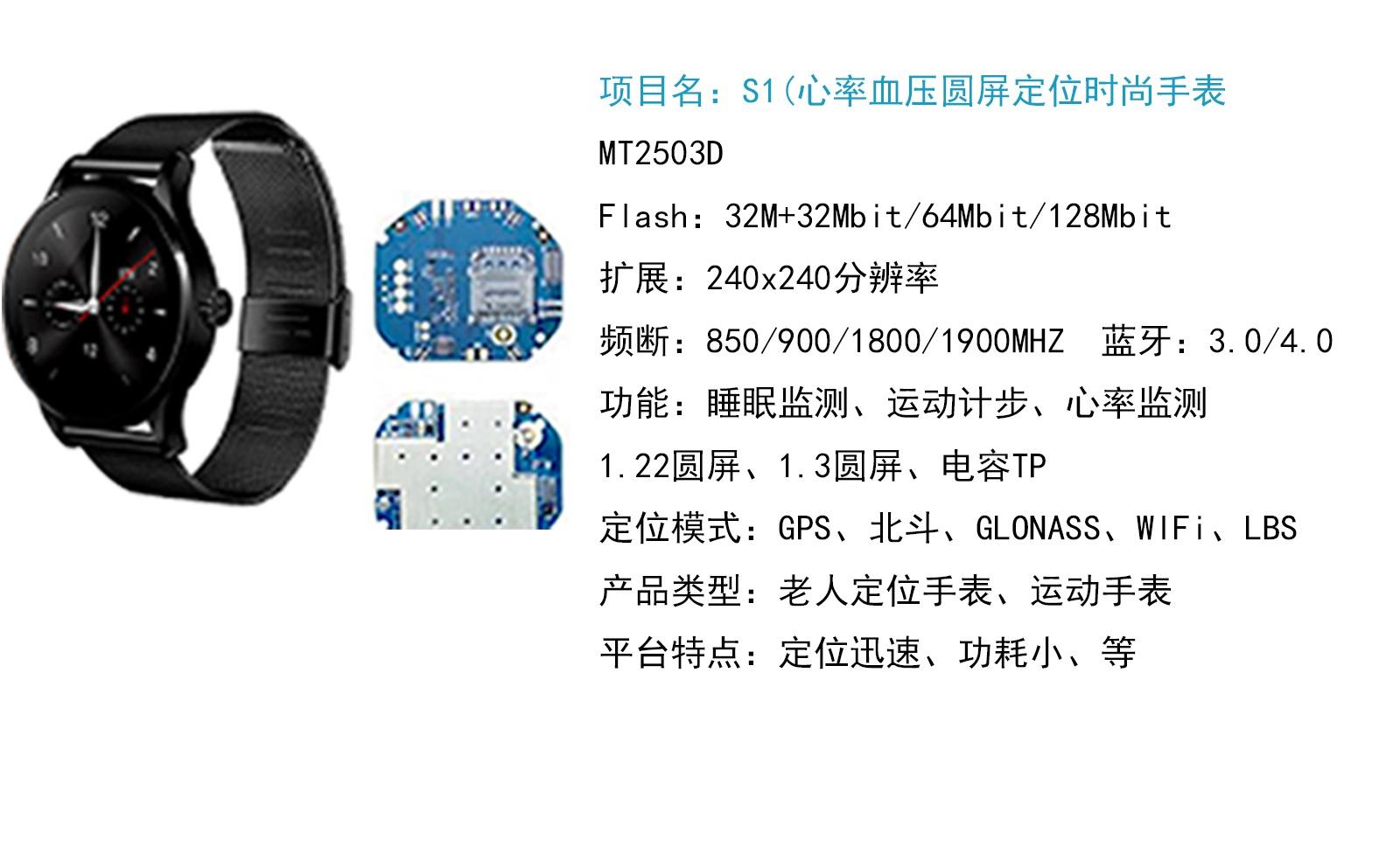 2503插卡(2G 带通信功能)定位手表