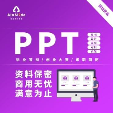 毕业答辩/创业大赛/求职简历PPT策划设计美化定制代做