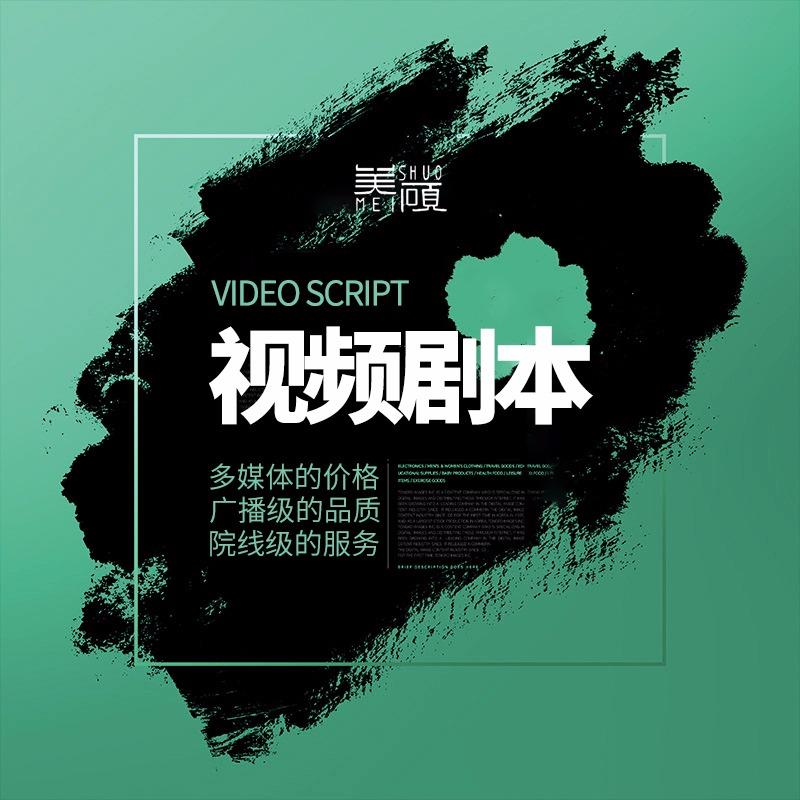 剧本微电影企业宣传片汇报片纪录片抖音短视频等脚本创作服务