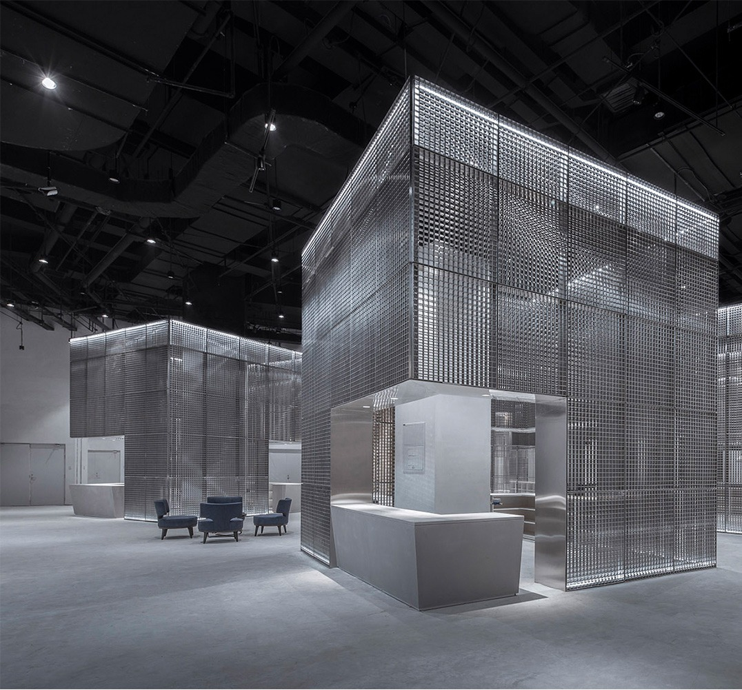 公装设计展厅设计效果图施工图展会展厅公装效果图