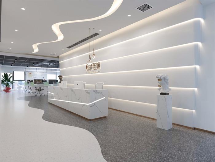 办公空间LOFT总裁室总经理室会议室培训室形象墙墙接待区设计