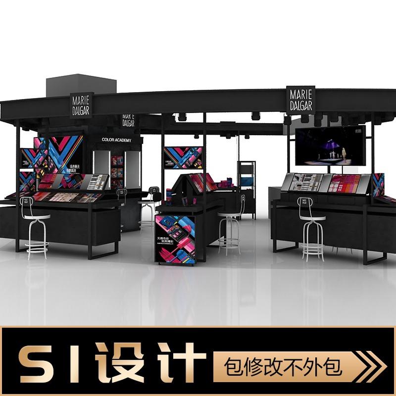 专卖店SI连锁加盟店设计 品牌形象终端si设计商业效果图