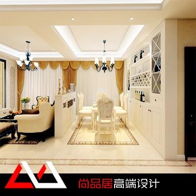 精装房欧式装修风格小户型简欧效果图施工图别墅装修设计新房装修