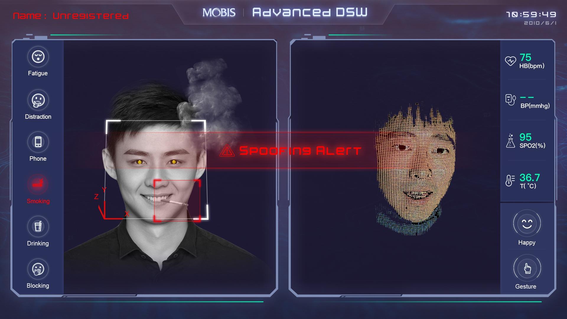 AI 疲劳驾驶系统  (QT/C++)