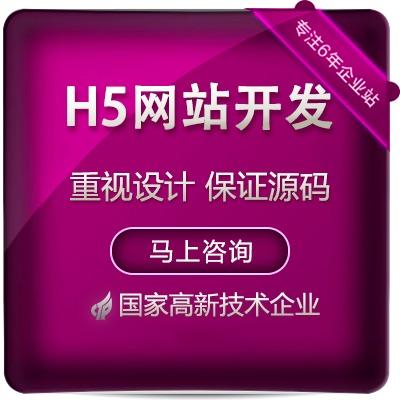 HTML5官网定制开发公司网站建设H5页面设计web前端开发