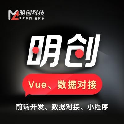 整站 前端开发  数据对接 Vue 开发