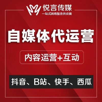 B站 代运营 抖音火山西瓜小视频推广自媒体账号托管短视频内容营销