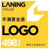 兰灵图标logo升级公司品牌餐饮商标标志注册卡通logo设计