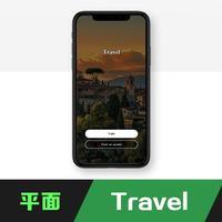 旅游平面设计UI移动APP界面设计LOGO设计网页广告海报