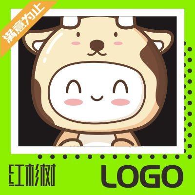 卡通LOGO公司企业卡通logo设计师手绘吉祥物品牌人物