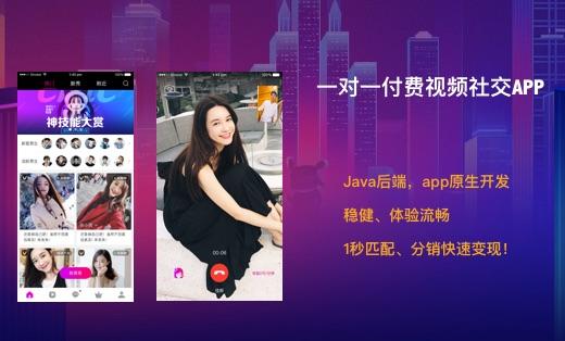 1v1 一对一付费视频聊天交友社交app