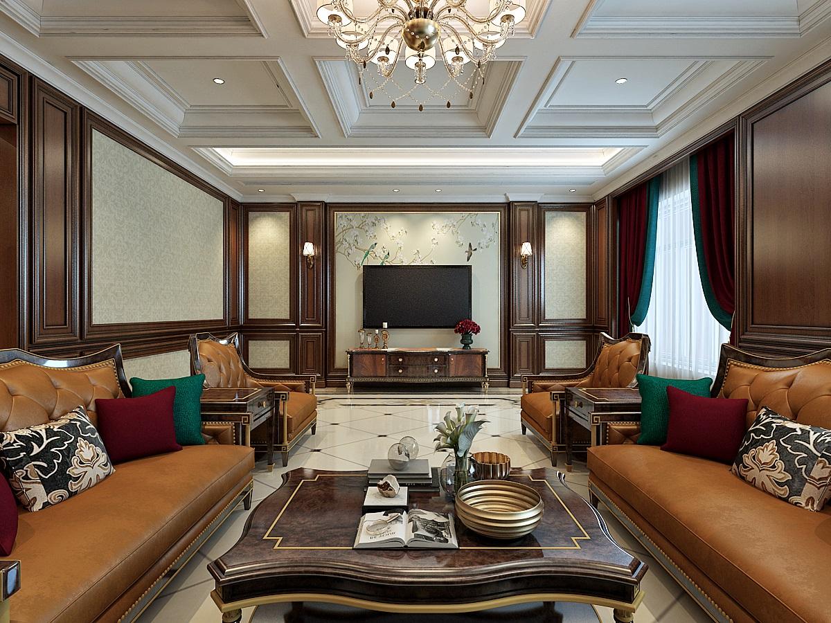 美式风格设计/别墅设计/商业空间设计/施工图/效果图设计