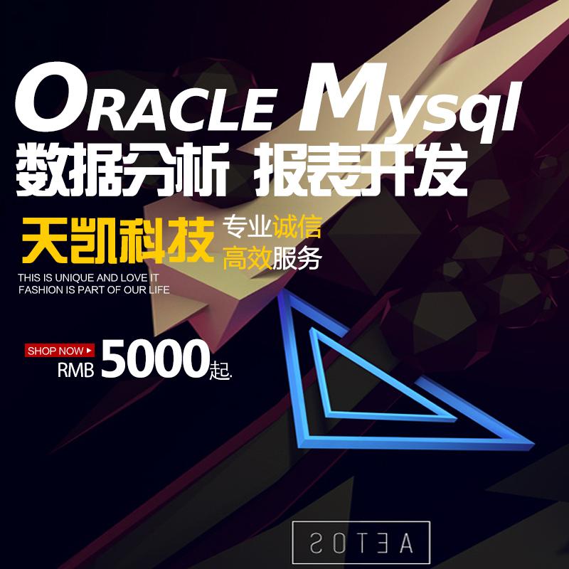 ORACLE/MYSQL数据库分析服务/商业智能/报表开发