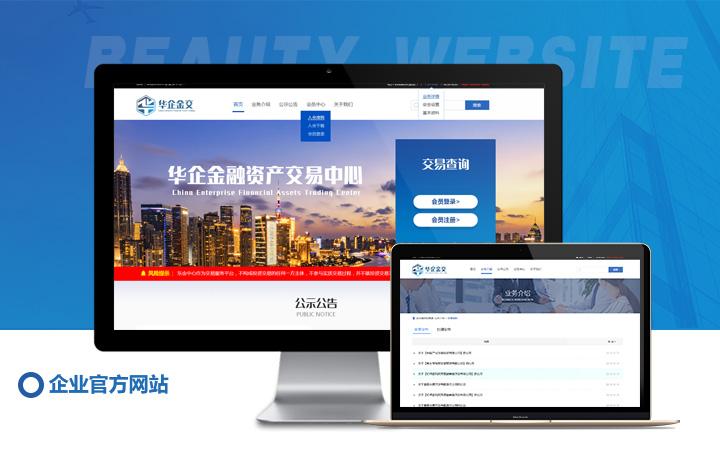 金融理财网站定制开发保险借贷众筹门户网站ui设计H5开发定制