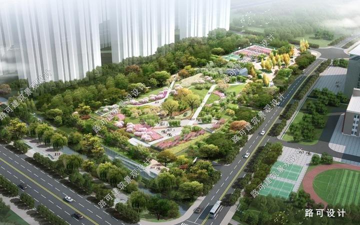 建筑效果图 鸟瞰图效果图 园林景观效果图