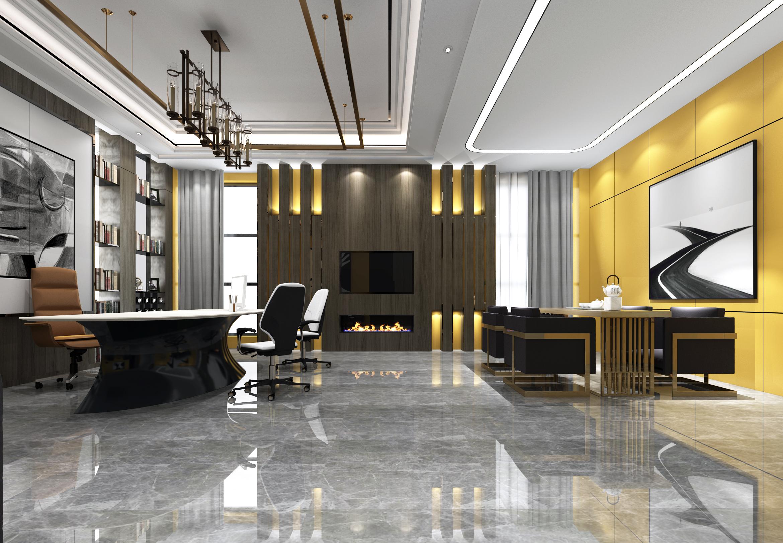 【李栋】.写字楼效果图设计.写字楼装修设计.办公空间室内设计