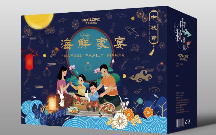 品牌节日喜庆管式盒一体成型盒天地盖盒抽屉盒手提盒包装盒设计