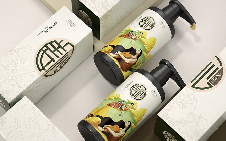 标贴产品包装设计外包装袋手提袋行业品牌包装盒标签礼盒设计手绘
