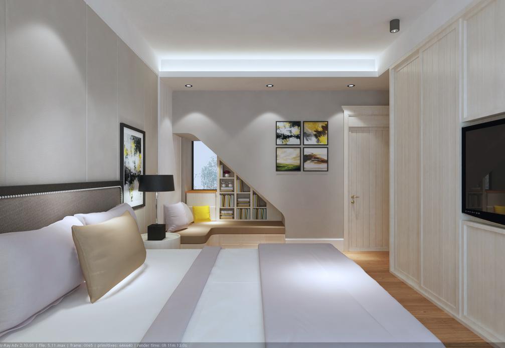 北欧现代风格家装平面布局效果图施工图软装搭配全案设计