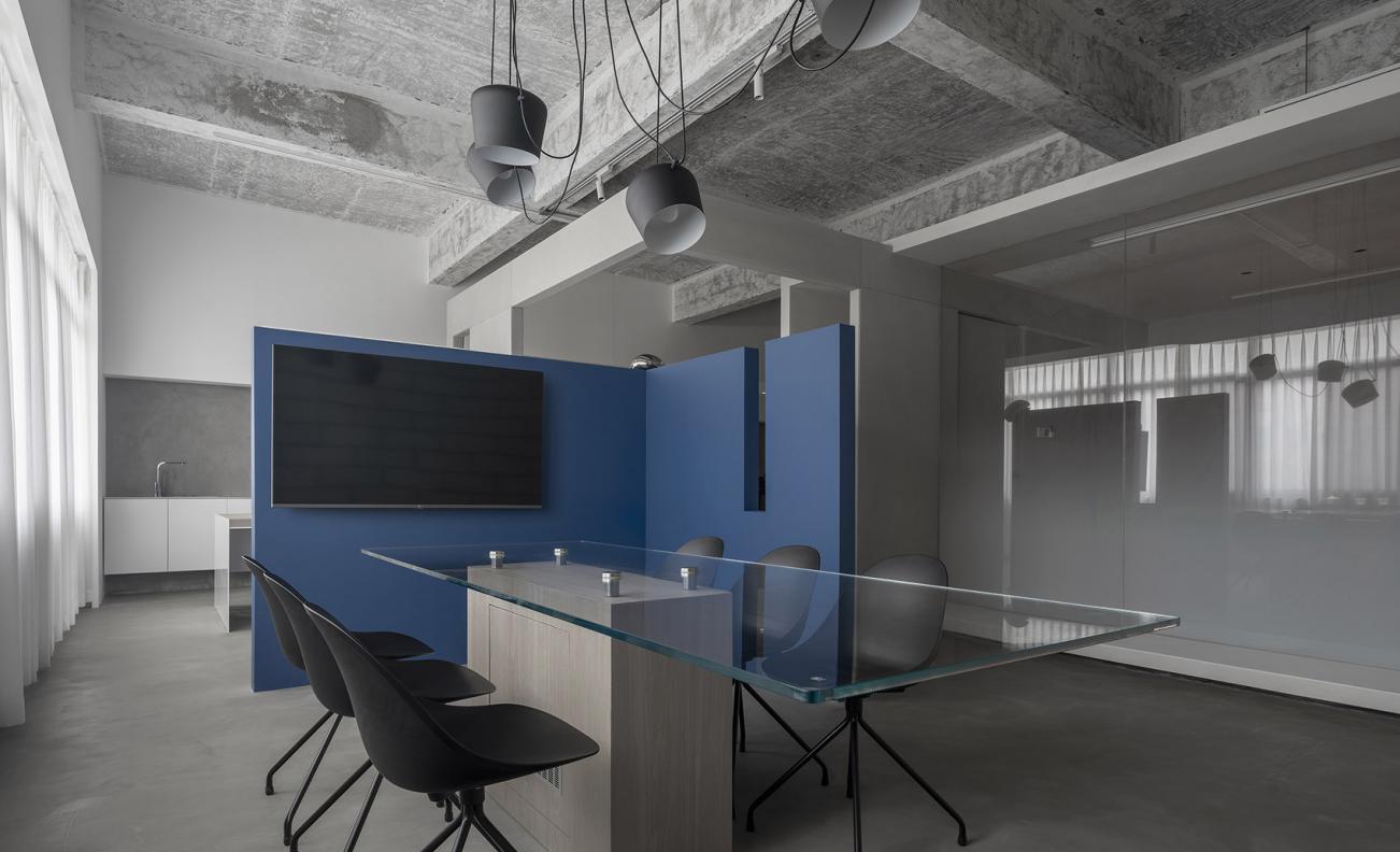 办公室空间设计平面布局效果图施工图全套方案定制软装搭配