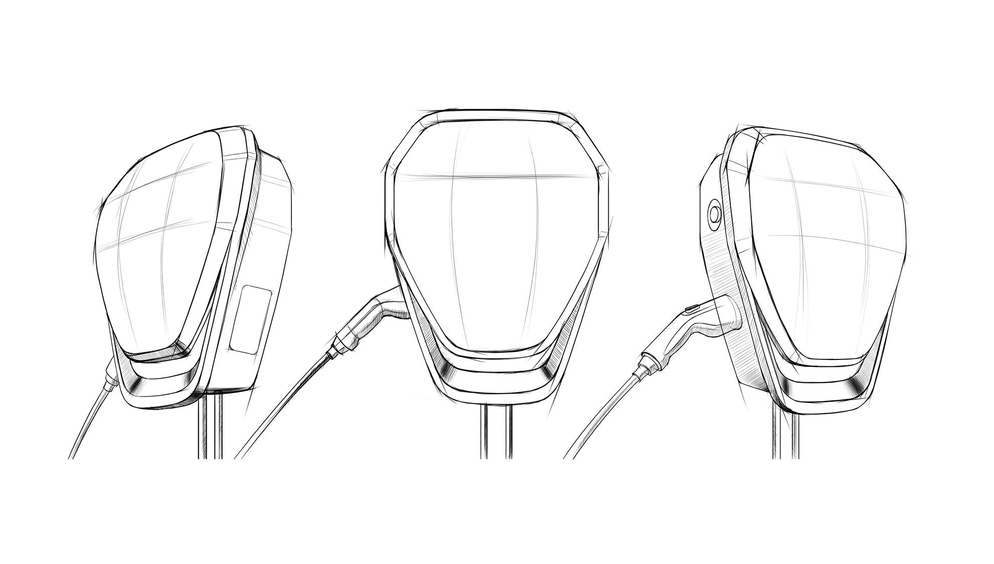 [新能源产品设计]新能源充电器/直流/交流充电桩外观工业设计