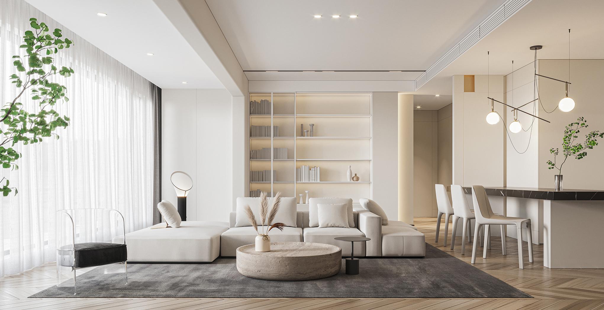【总监操刀】家装设计室内设计 别墅自建房效果图设计 现代简约