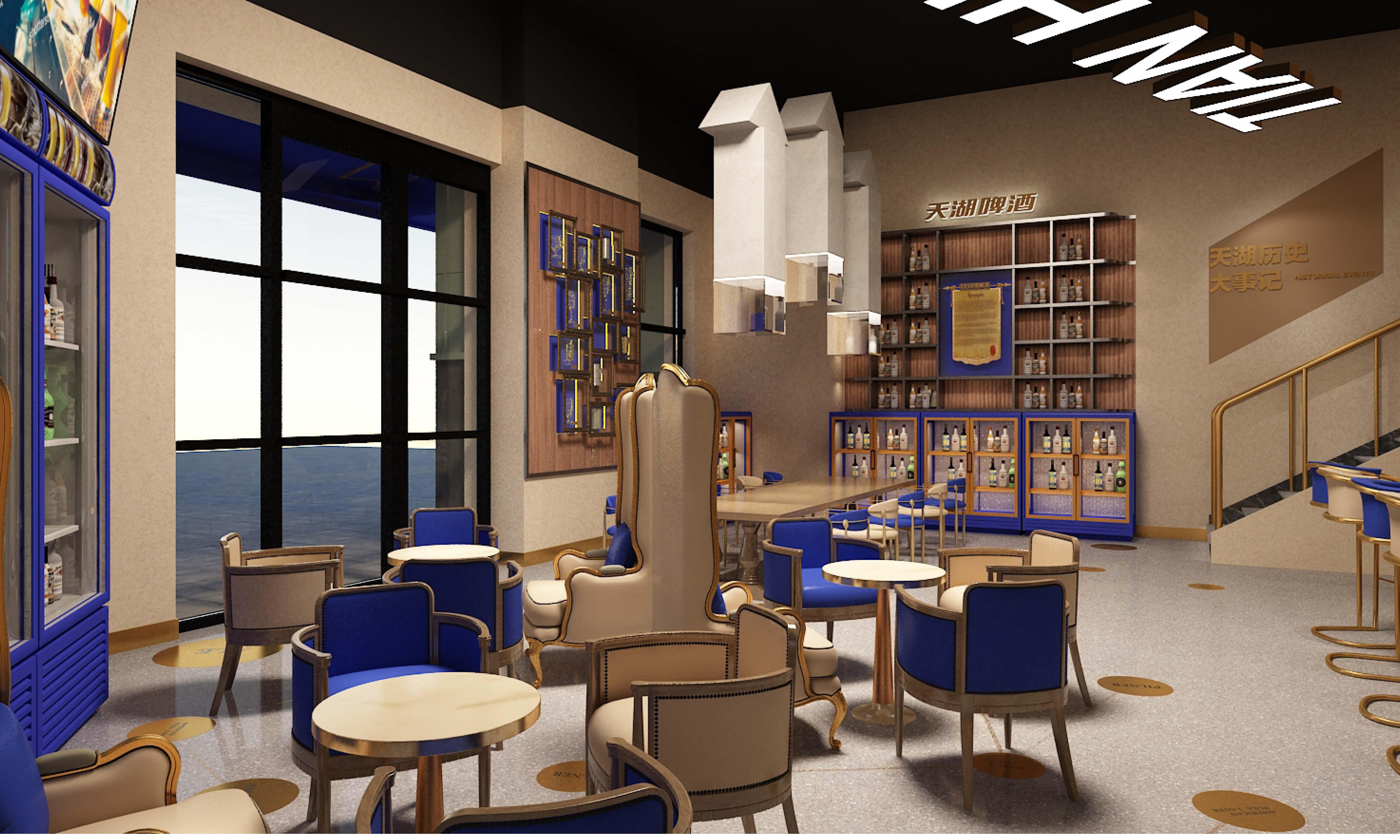 精酿啤酒吧空间设计装修设计效果图CAD施工图 店铺装修