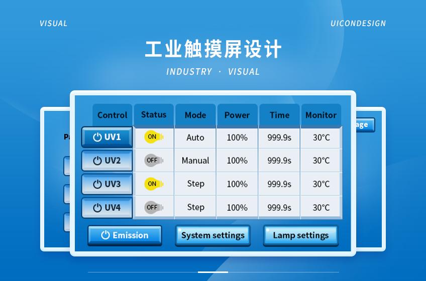 大数据智能智慧大屏uiWEB软件软件触屏界面ui管理工业界