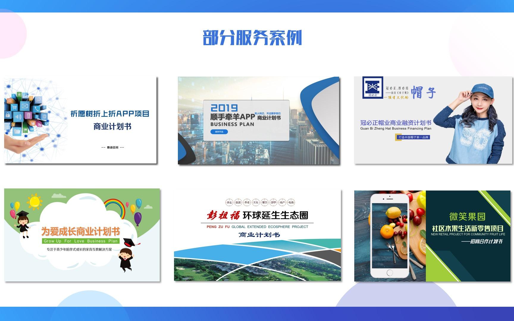 商业计划书融资创业计划书运营招商策划案路演PPT一站式编写