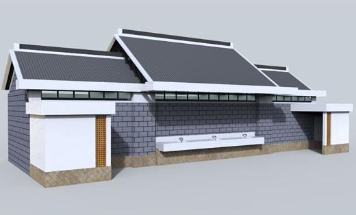 小学公用卫生间 厕所 建筑外观设计 施工图,装修图全套