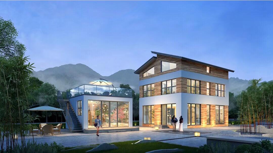 自建房 别墅设计 民宿装修 度假村 私人庭院 土建图纸效果图