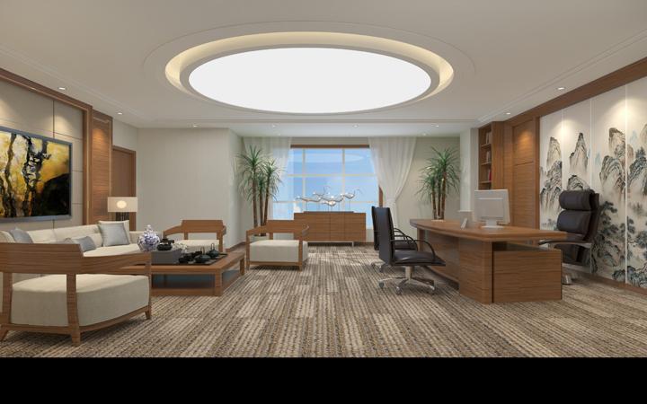 会议室经理室办公室设计公共区域设计CAD效果图
