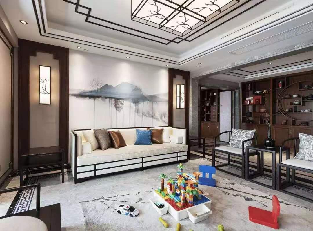 全案设计中式家装效果图设计室内平层复式空间装修设计施工图装饰