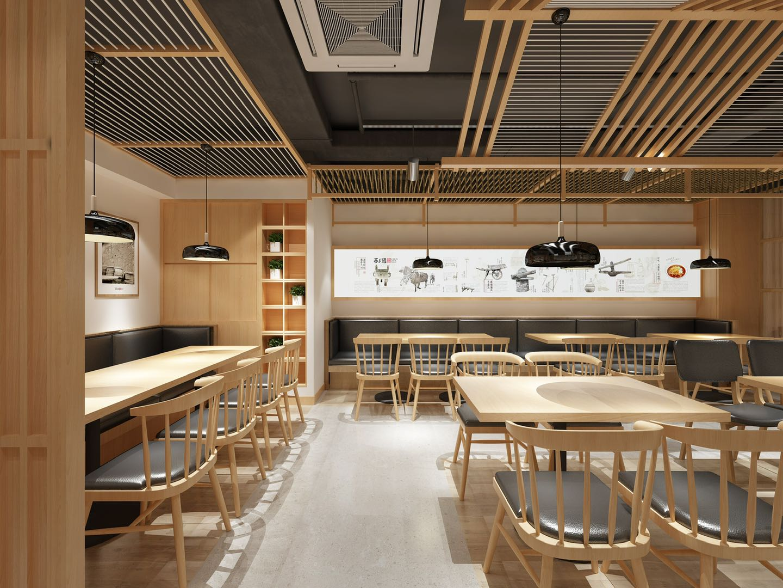 办公室餐饮设计si店铺连锁店公装室内效果图展厅会所娱乐定制